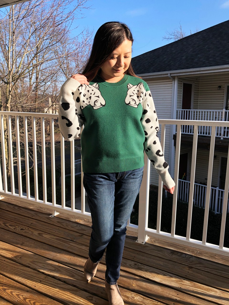 Leopard Sleeve Sweater 6