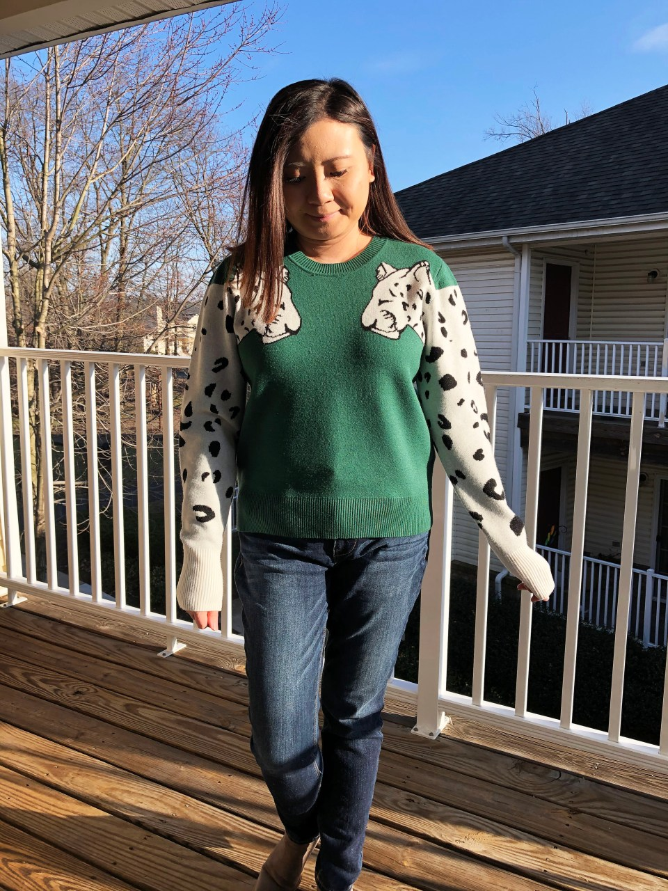 Leopard Sleeve Sweater 7