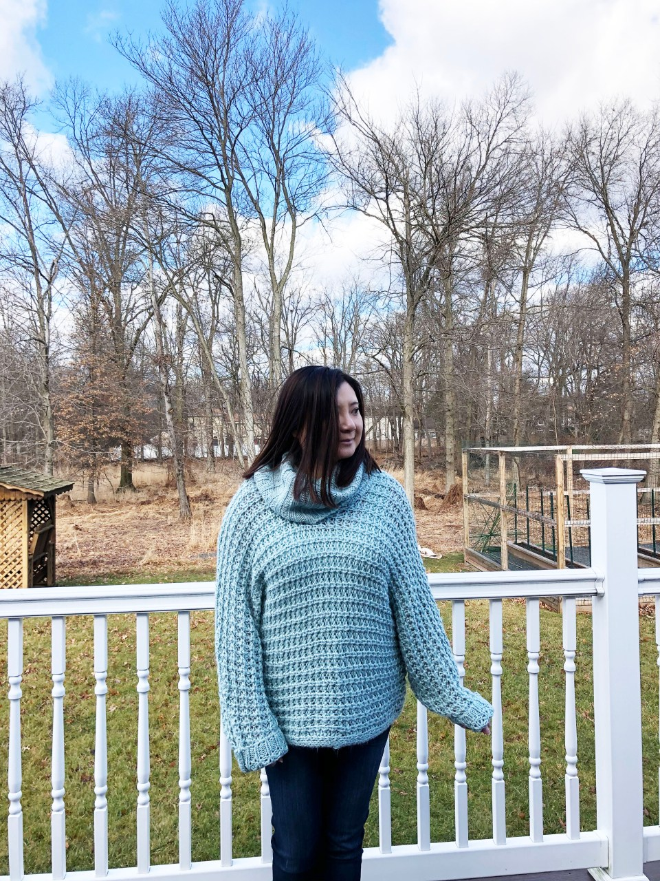 Oversized Knit Cowl Neck Sweater 13
