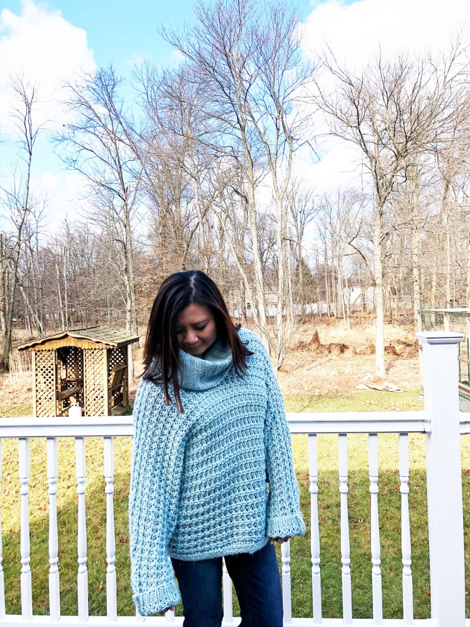 Oversized Knit Cowl Neck Sweater 4