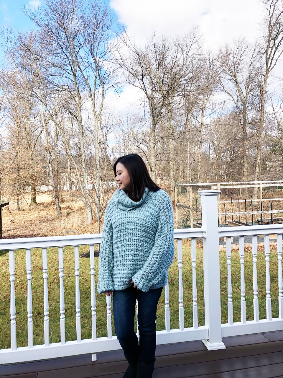 Oversized Knit Cowl Neck Sweater 7