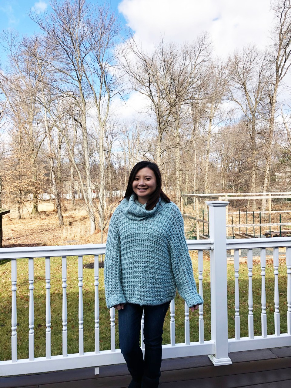 Oversized Knit Cowl Neck Sweater 8