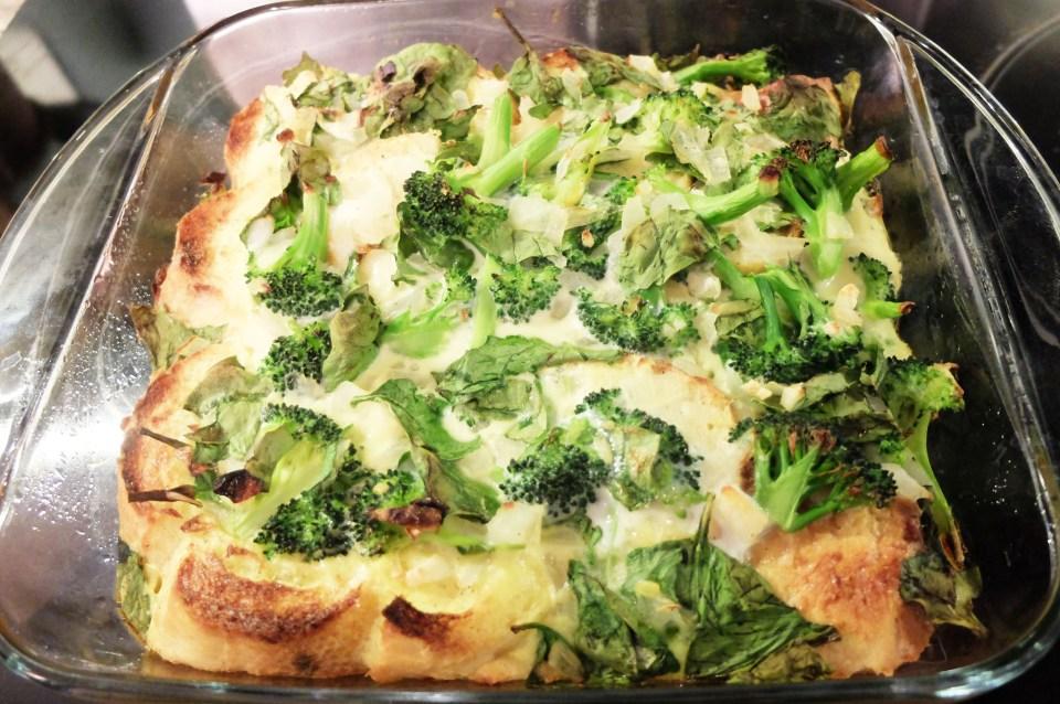 Broccoli & Spinach Strata 11