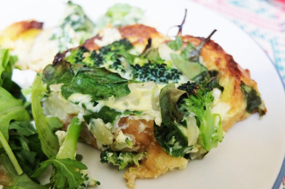 Broccoli & Spinach Strata 14