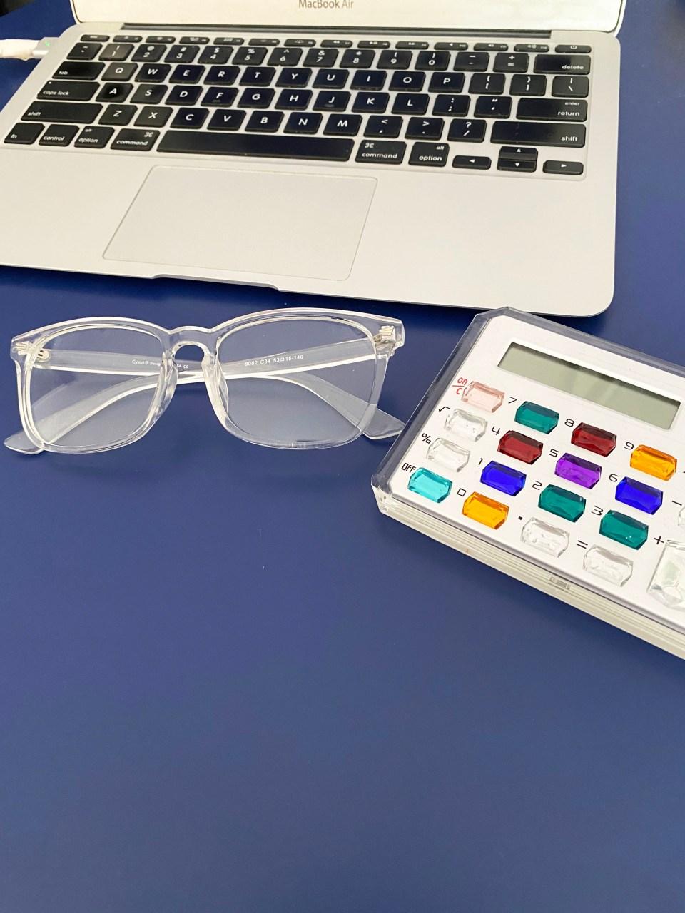 Clear Frame Blue Light Glasses 1