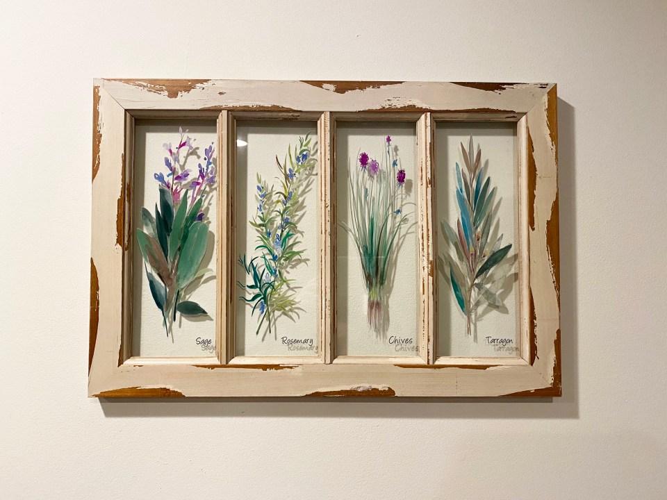 Herb Window Pane Art