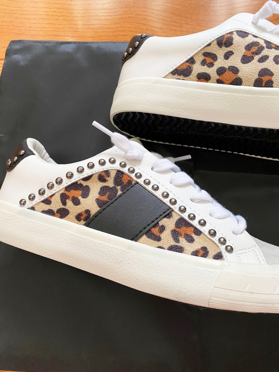 Leopard Studded Sneakers 1