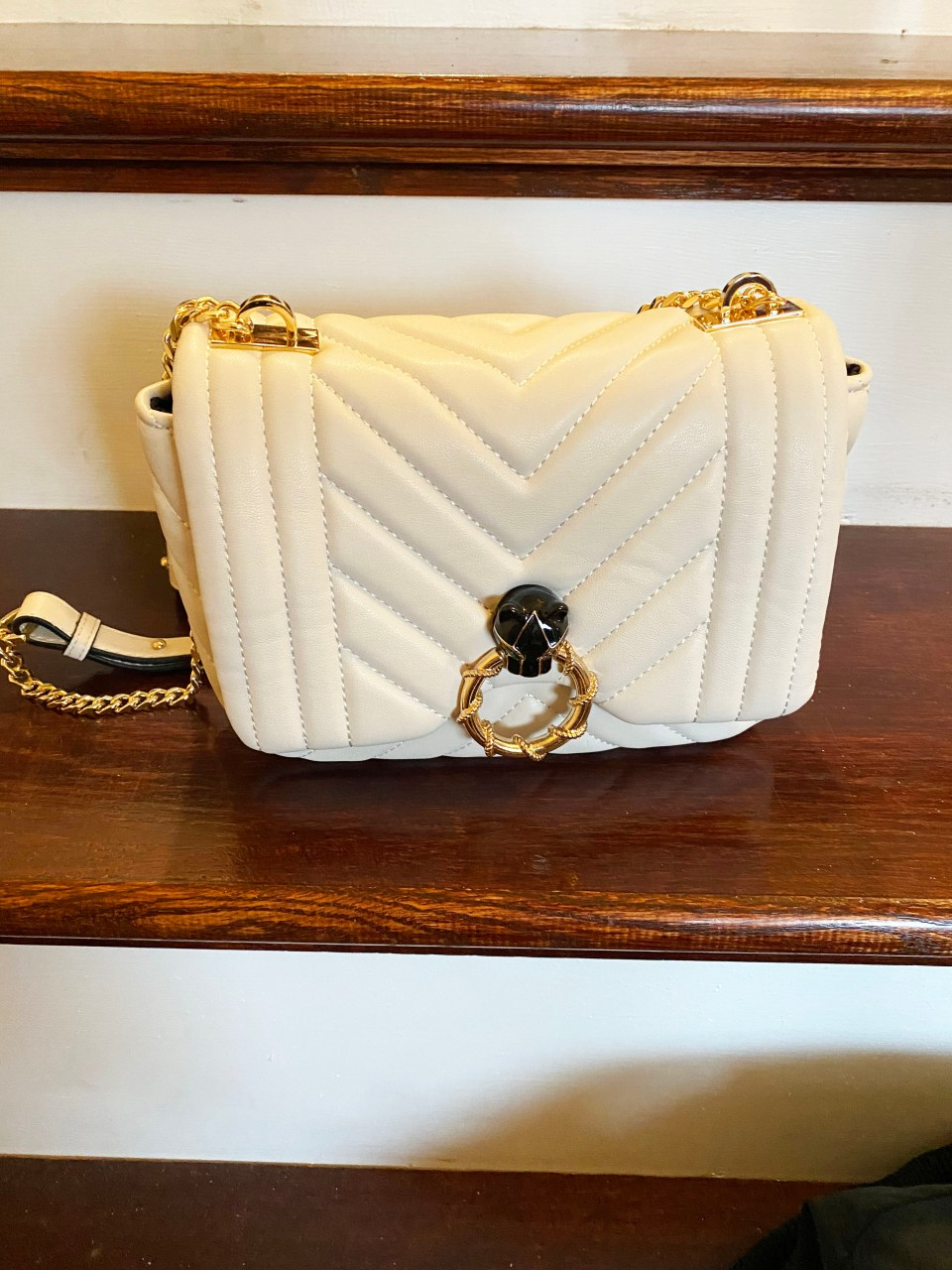 Panther Faux Leather Purse