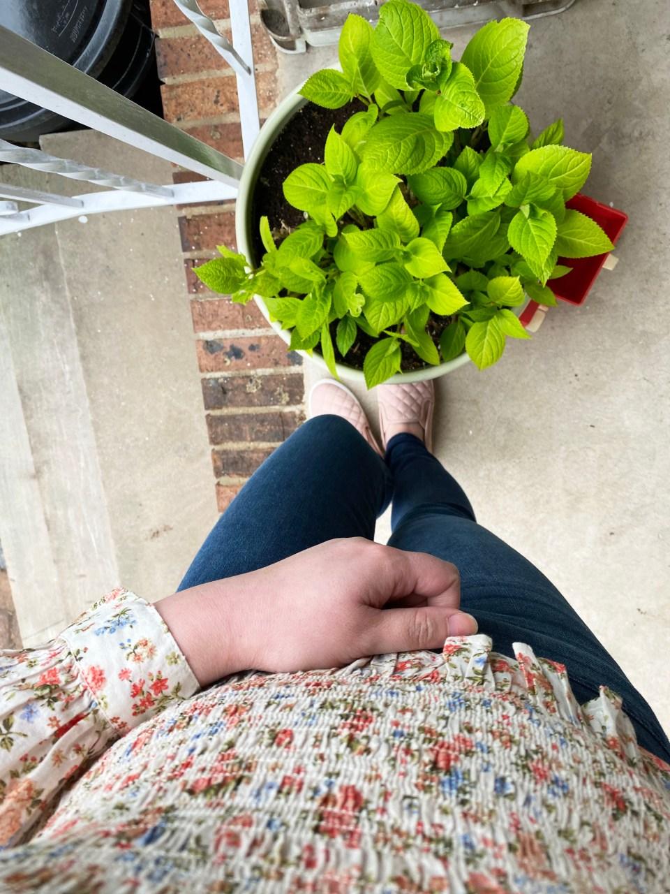 Floral Smocked V-Neck 11