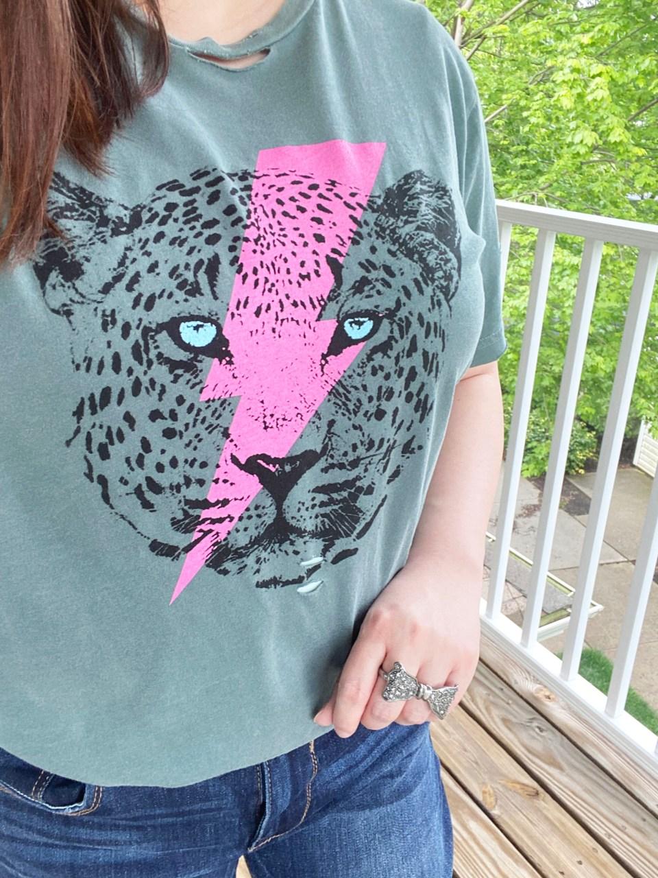 Leopard Lightning Tee 16