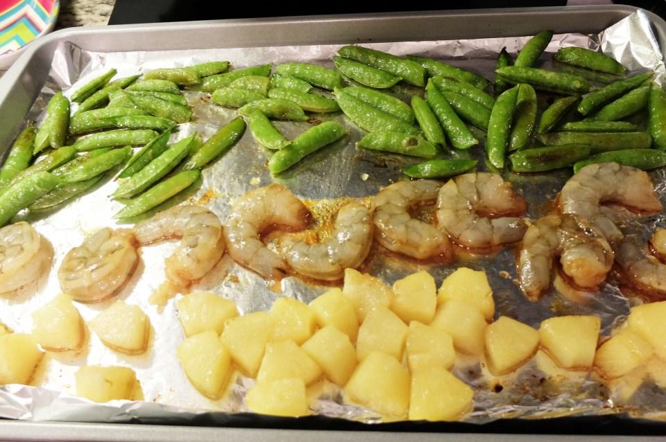 Sheet Pan Teriyaki Shrimp + Snap Peas + Pineapple 4