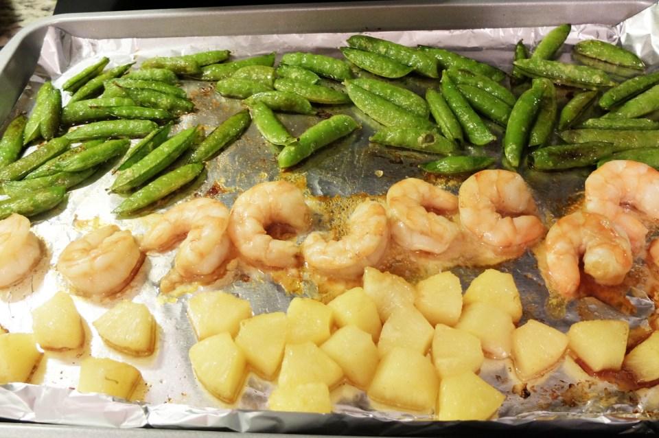 Sheet Pan Teriyaki Shrimp + Snap Peas + Pineapple 6