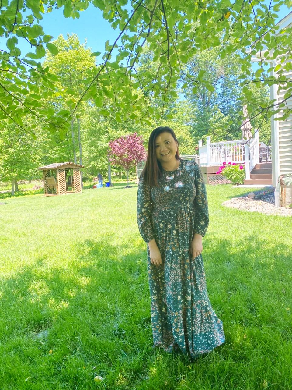 Smocked Babydoll Maxi Dress 11