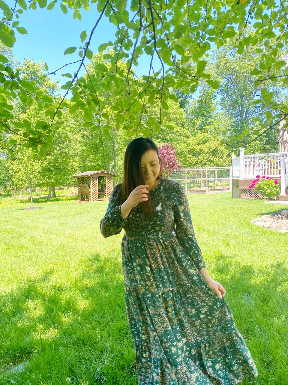 Smocked Babydoll Maxi Dress 12