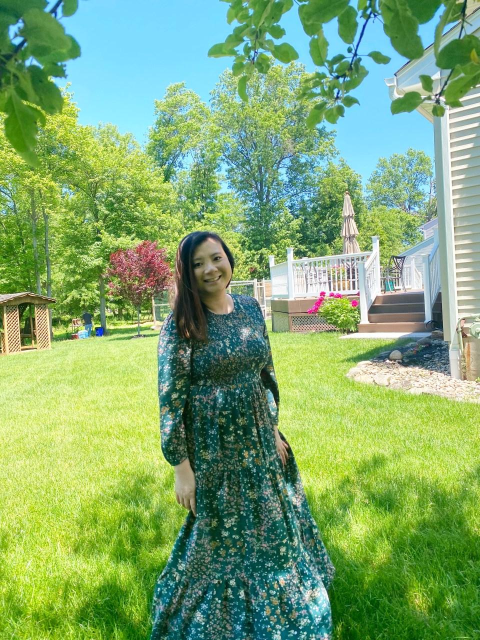 Smocked Babydoll Maxi Dress 3