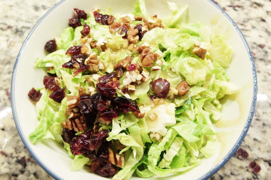 Honey Mustard Brussels Sprouts Salad