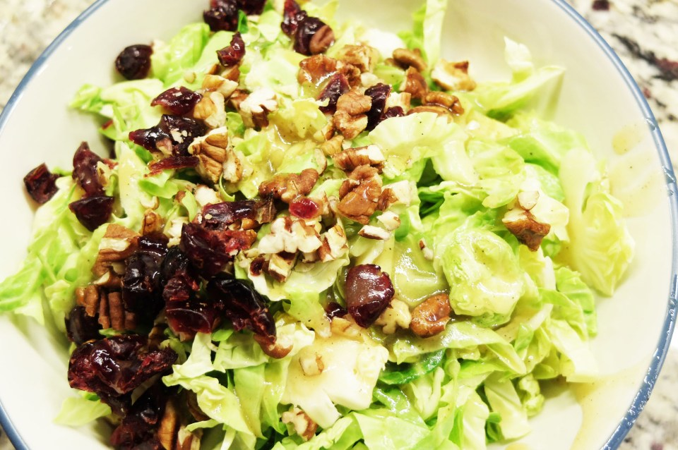 Honey Mustard Brussels Sprouts Salad 9
