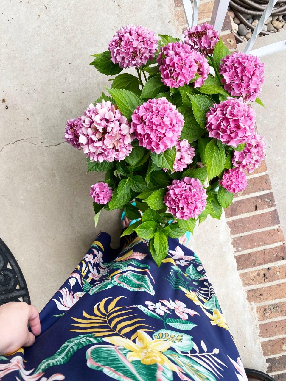Navy Blue Botanical Maxi Dress 10