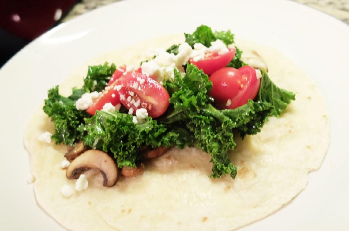 Spicy Kale & Portobello Mushroom Tacos