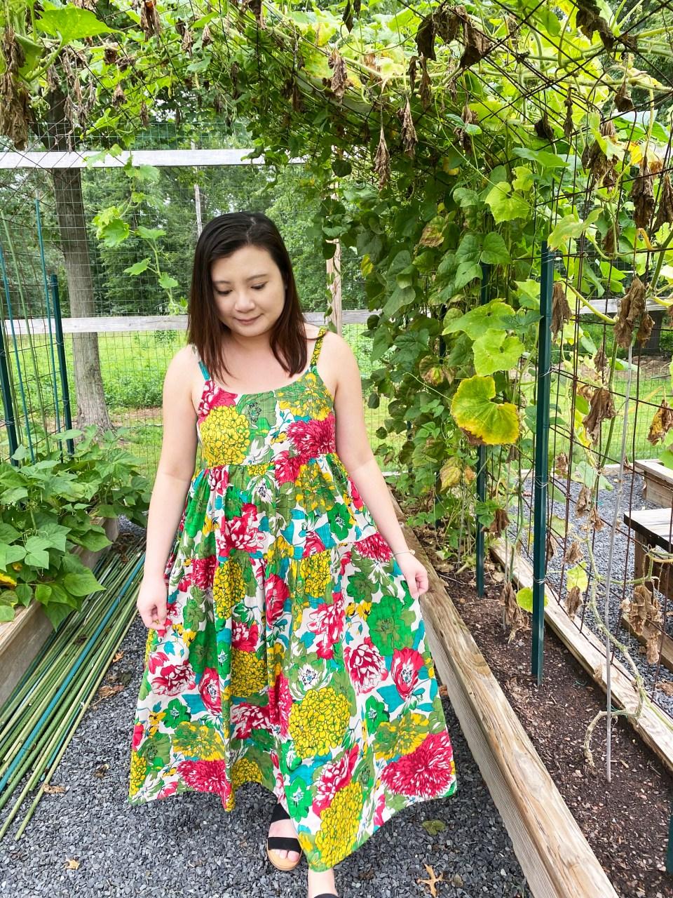 Floral Swing Maxi Dress 10