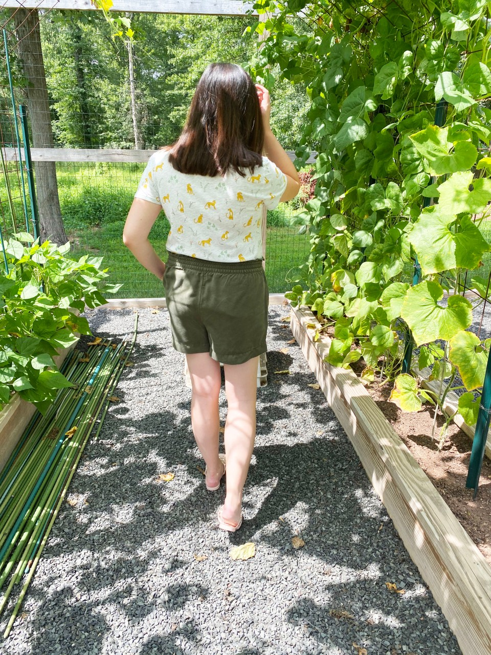Leopard Tee + Olive Shorts 7