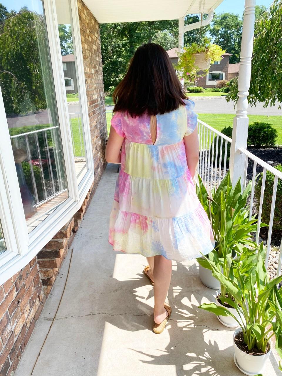 Tie Dye Babydoll Dress 4