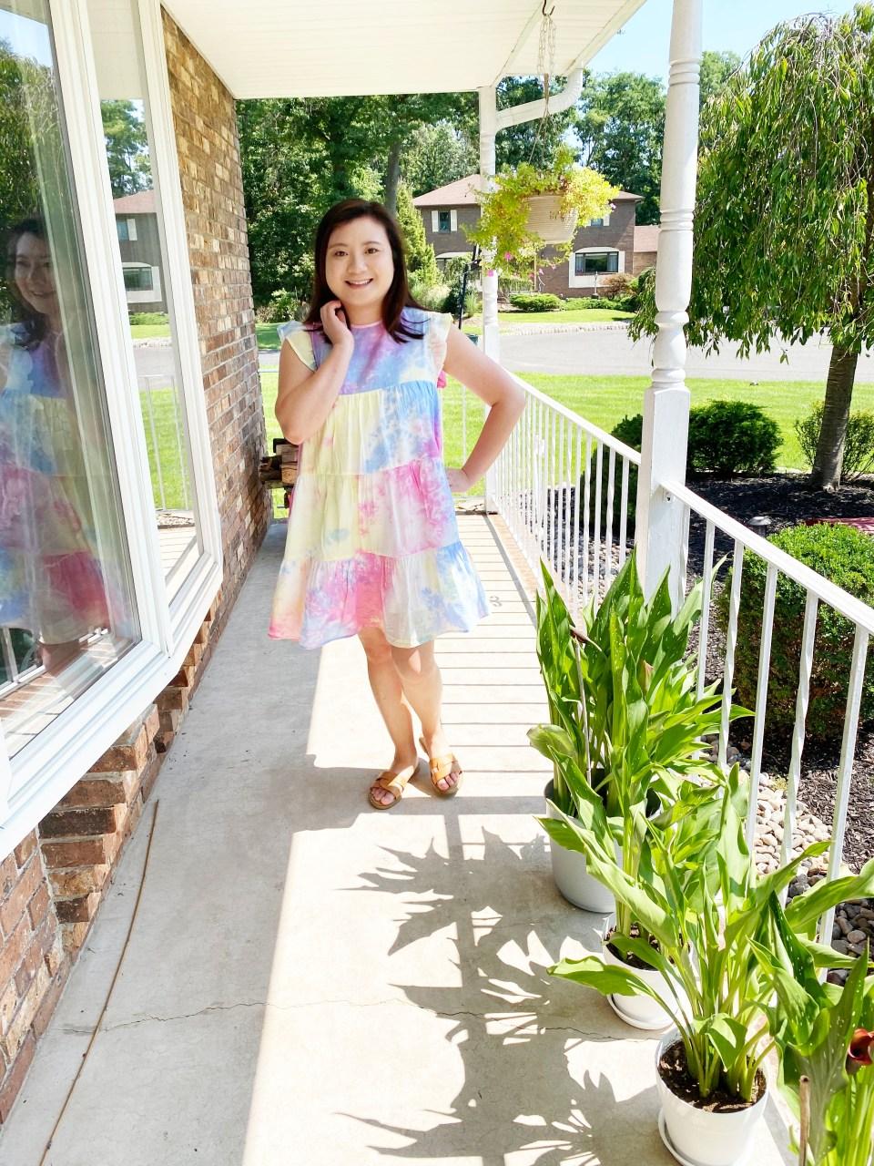 Tie Dye Babydoll Dress 6