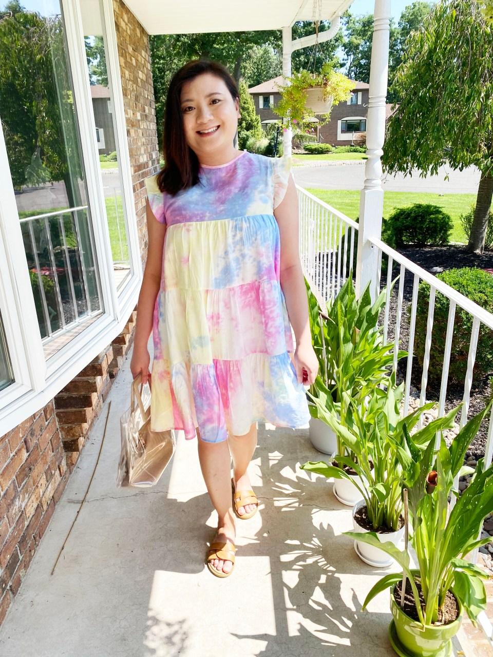 Tie Dye Babydoll Dress 8