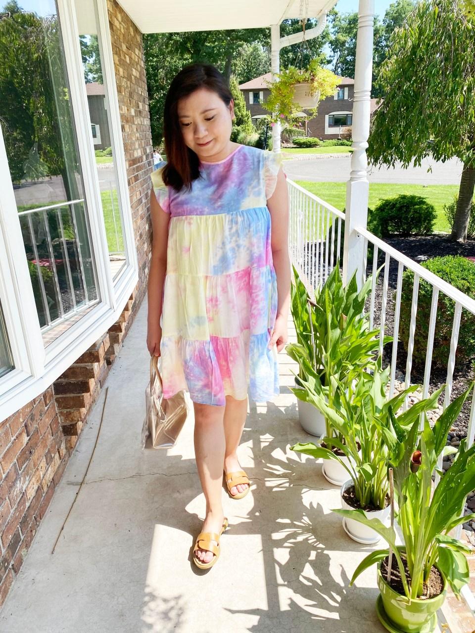 Tie Dye Babydoll Dress 9