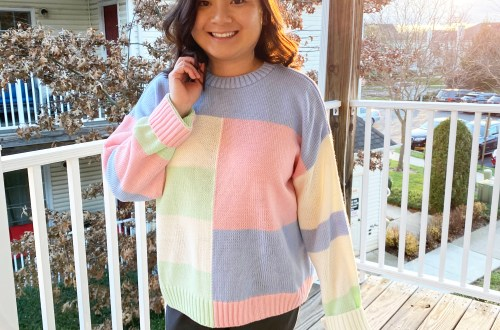 Pastel-Color-Block-Sweater