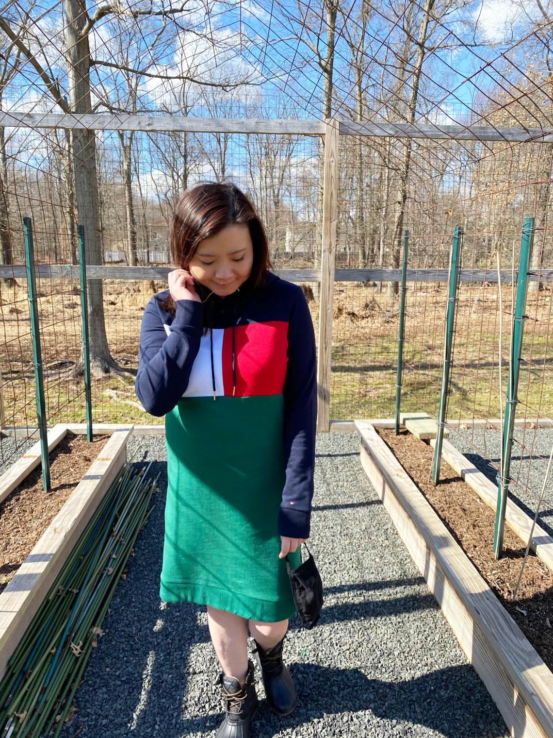 Color-Block-Hoodie-Dress