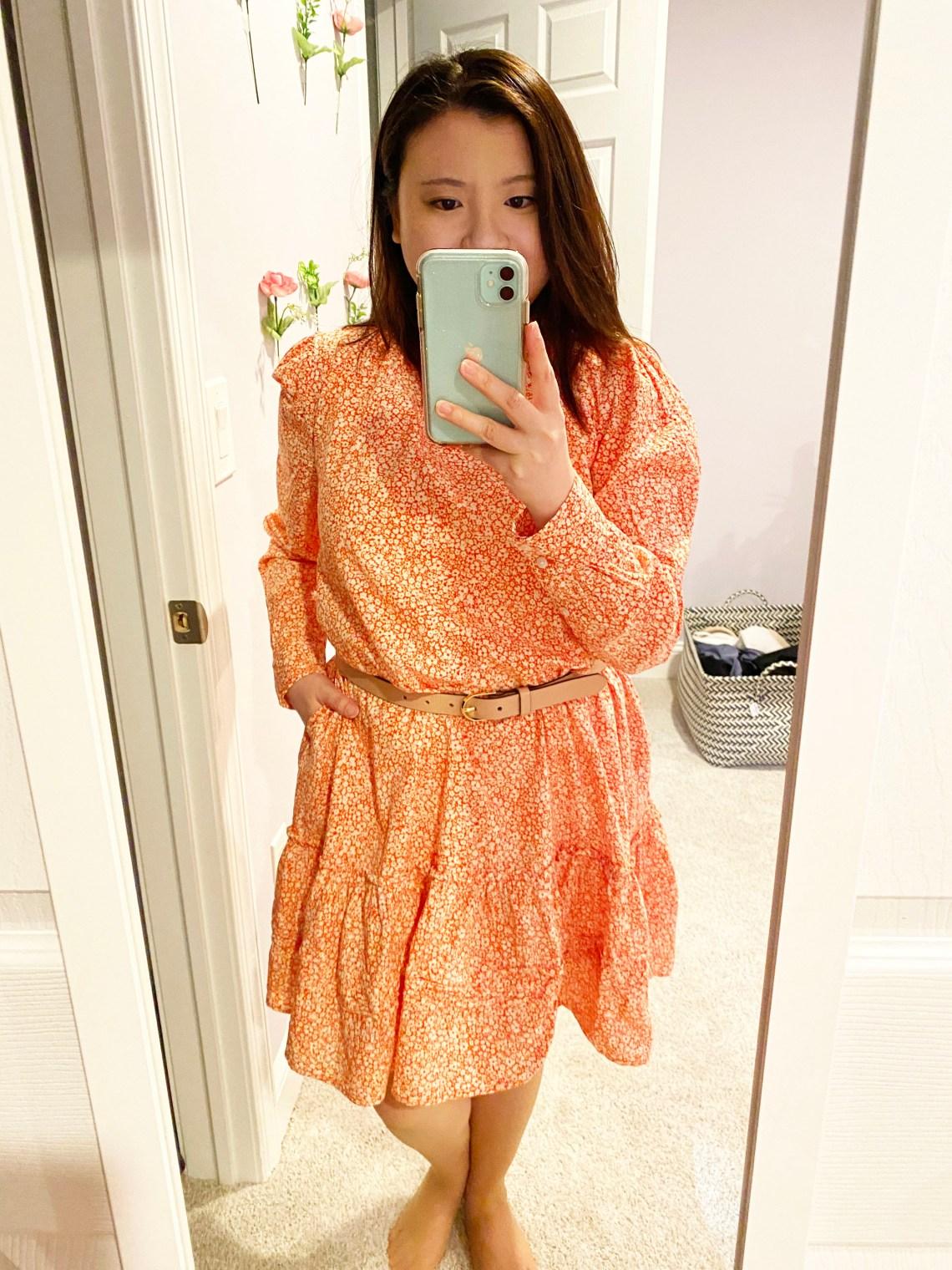 Belted-Floral-Dress