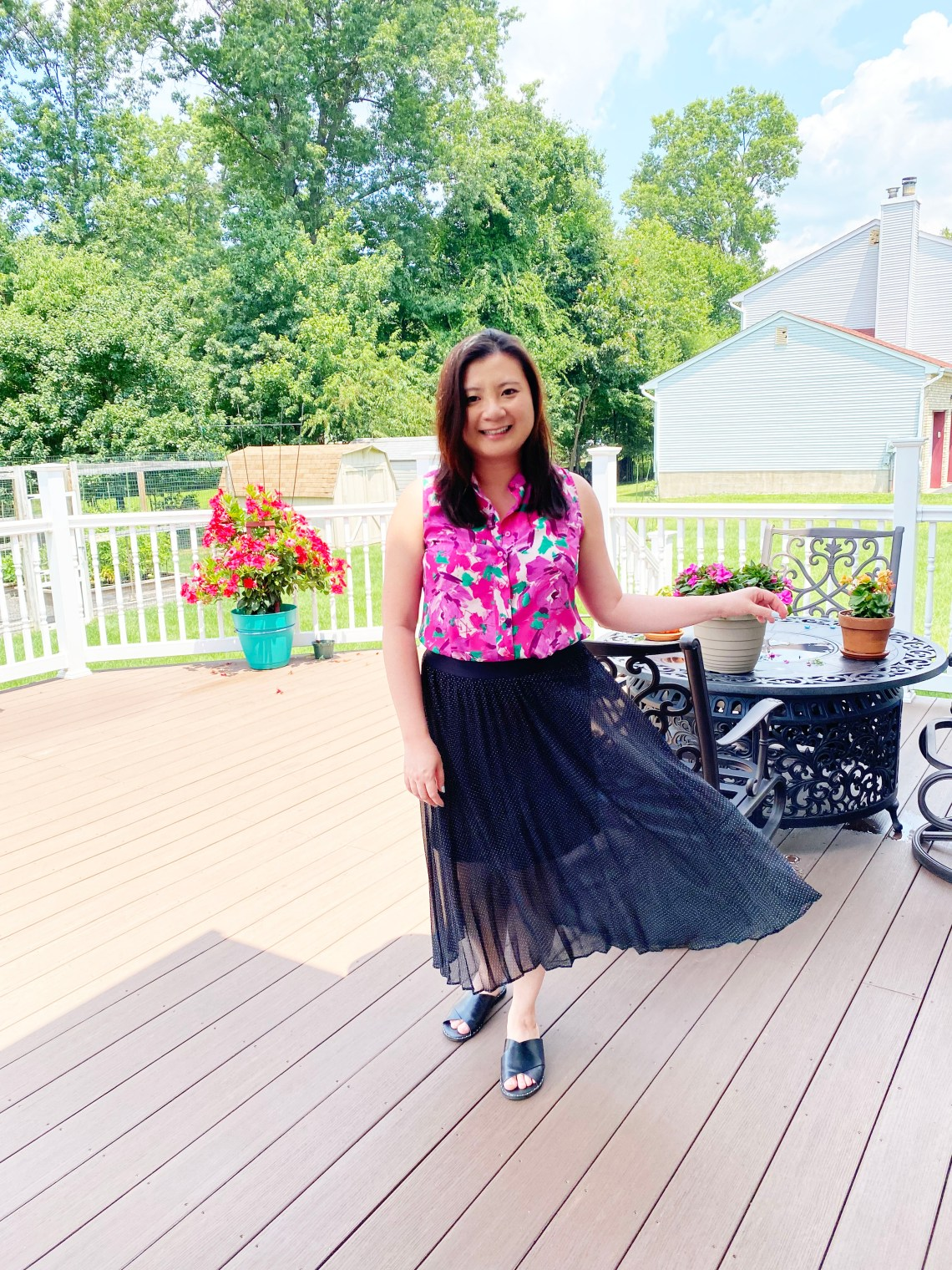 Floral-Top-Polka-Dot-Skirt