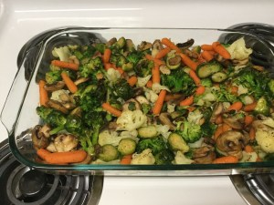 Example of batches of veggies I cook for lunches