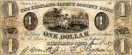 Kirtland bank 1 dollar bill