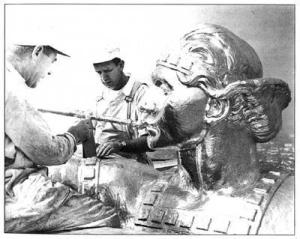 Angel Moroni in Mayan clothes
