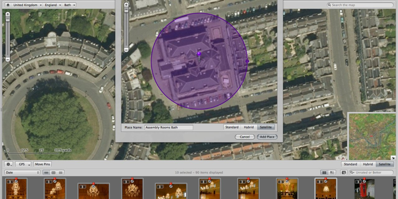 Put your photos on the map with the Aperture Places feature