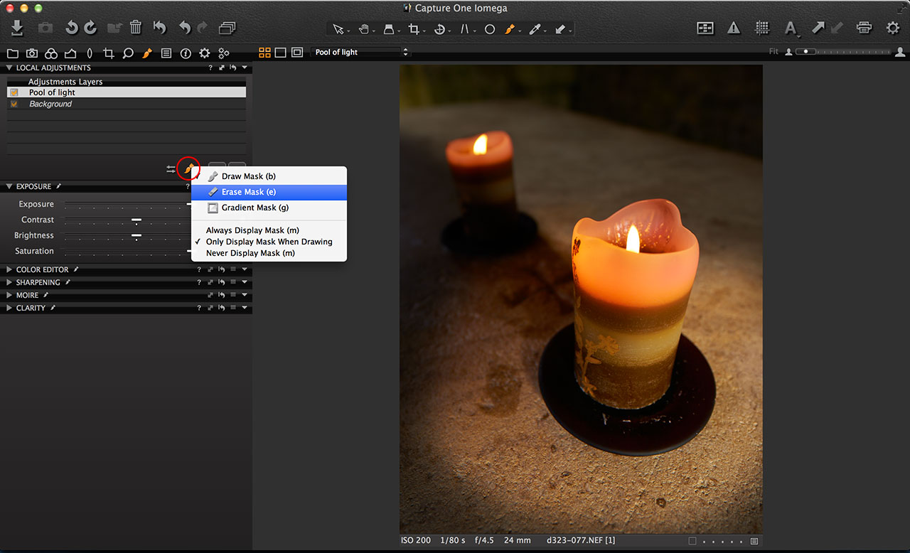 Capture One adjustment tools