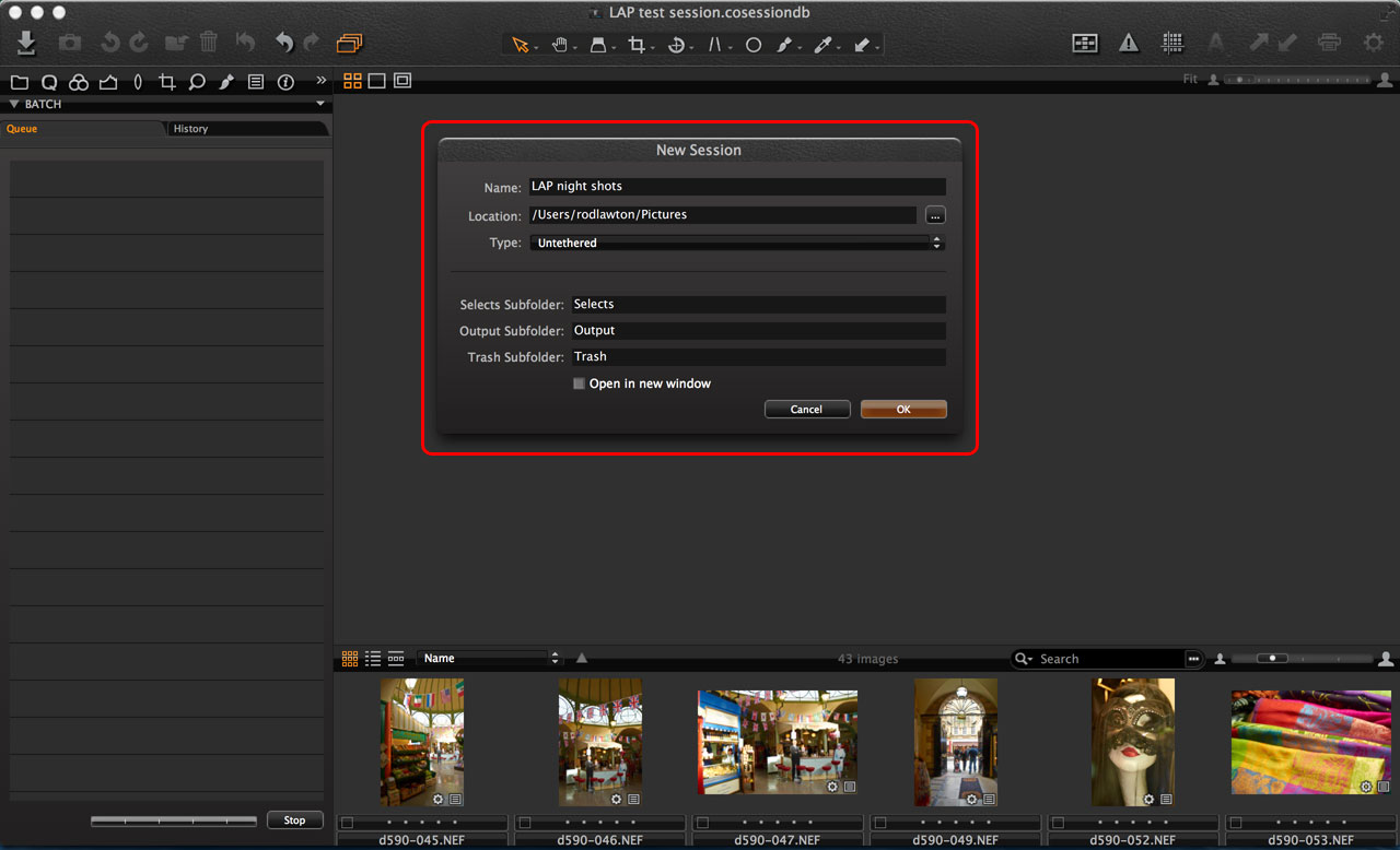 Capture One Sessions