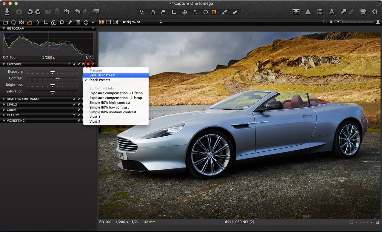 Capture One preset vs styles