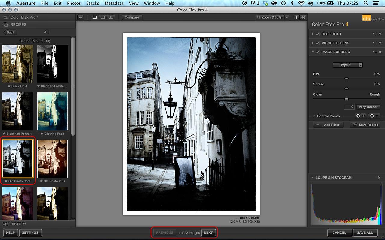 Color Efex Pro batch processing