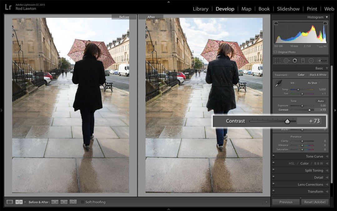 Shadow and highlight recovery in Lightroom