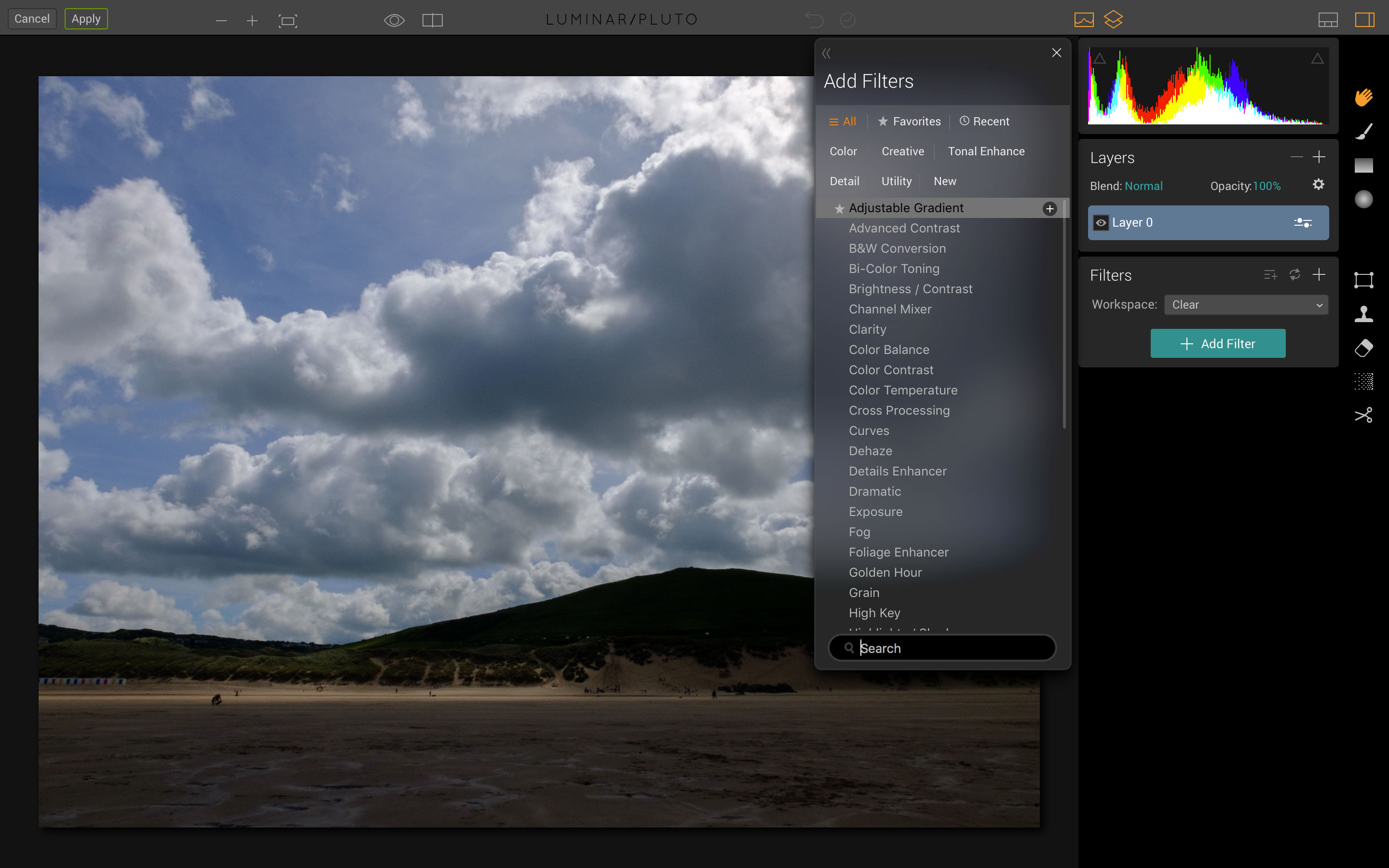 How to use the Luminar Adjustable Gradient filter | Life