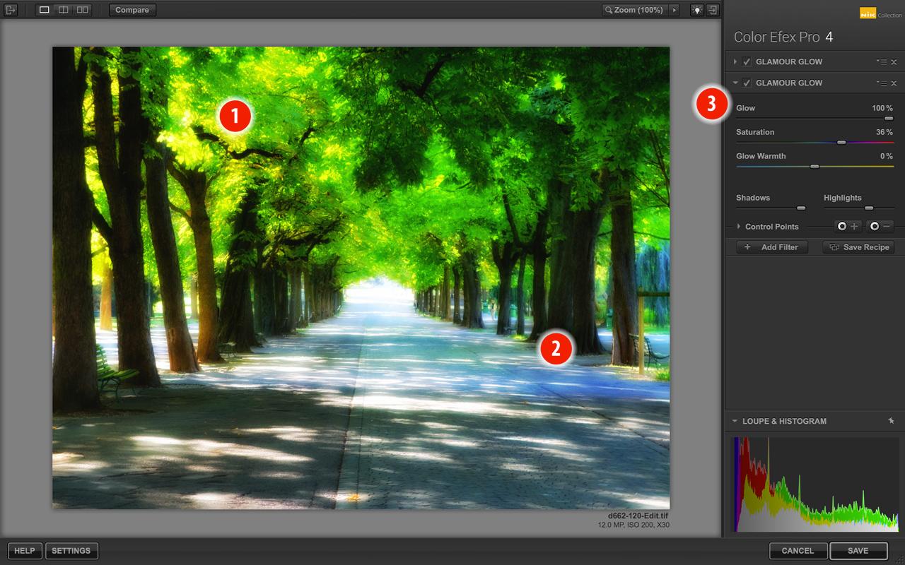 Color Efex Pro Glamour Glow soft focus