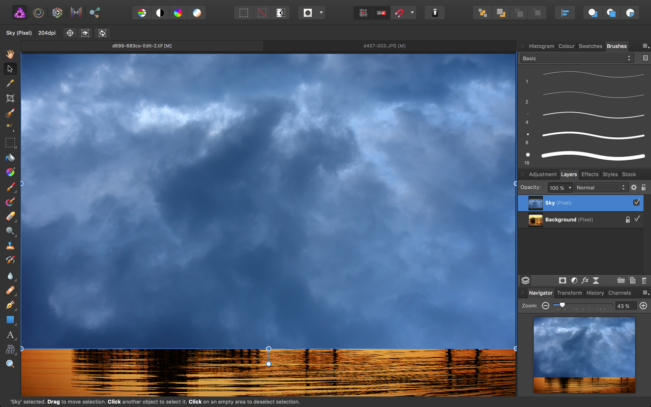 How to add a new sky to a landscape