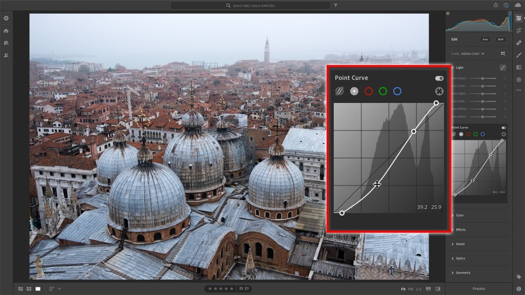 Lightroom curves