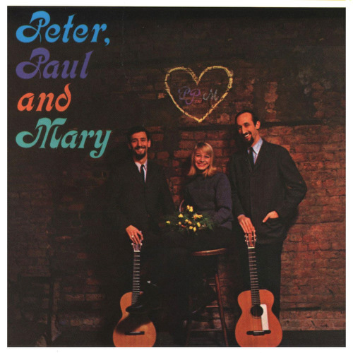 Peter, Paul and Mary's first record album, 1961, Warner Bros. High Fidelity Monophonic. Album cover photograph at The Bitter End, NYC.