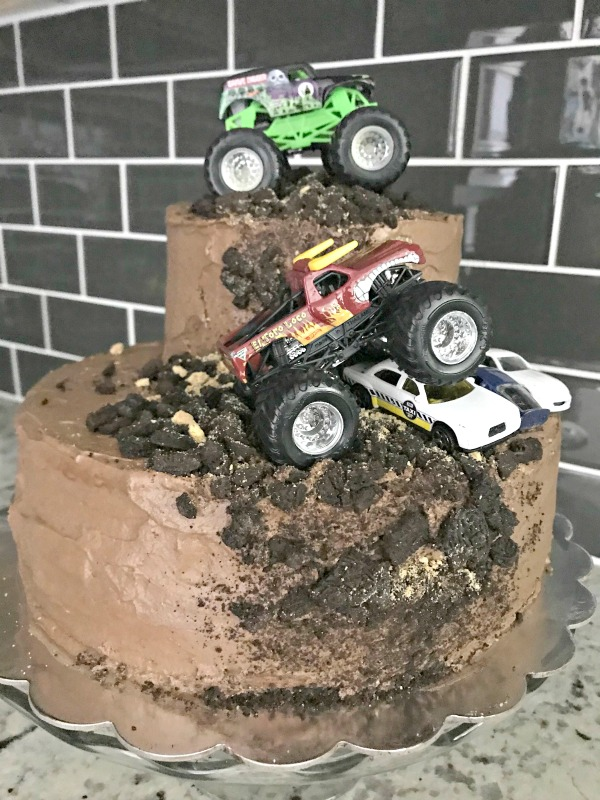 Monster Truck Birthday Party Celebrating 4 Years Life Anchored