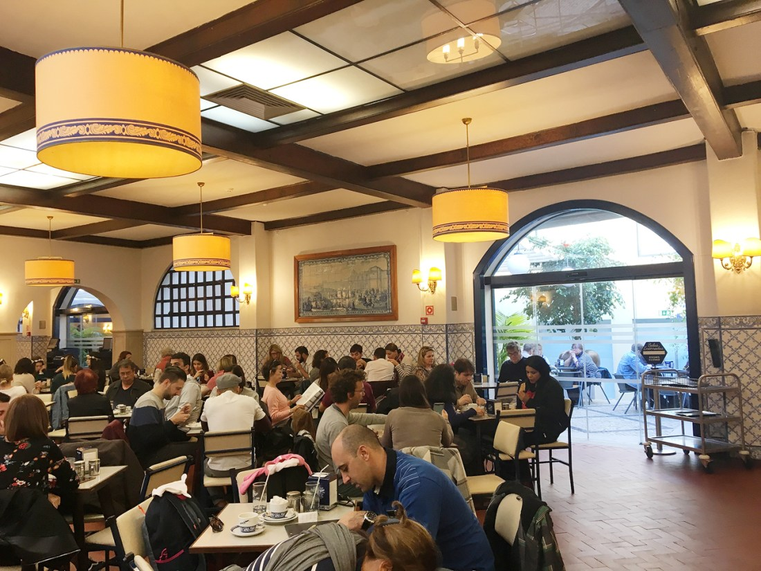 The comfortable seating area in Pasteis de Belem. I spent around 1 hour inside and enjoyed my pasteis de nata in peace while also having the chance to try out other items on the menu!