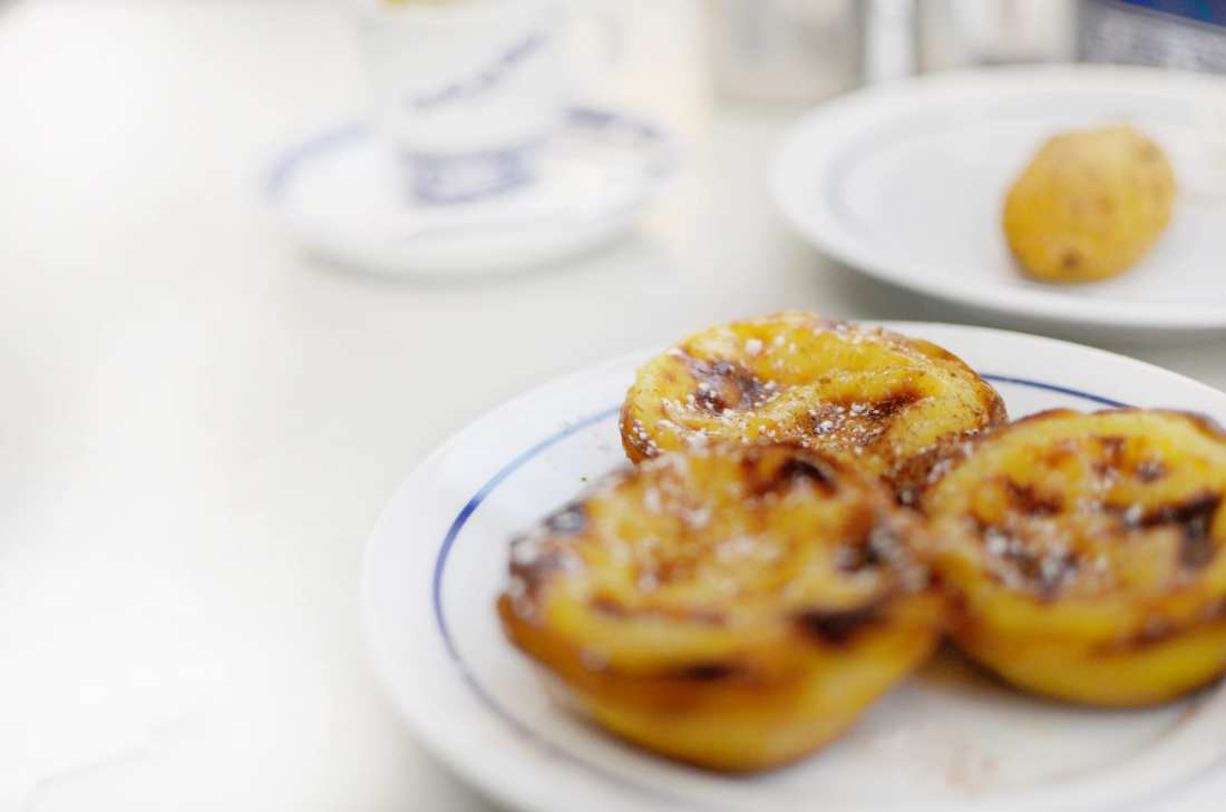 Pasteis de Nata (Portuguese Tarts) from Pasteis de Belem are must-haves when in Lisbon!